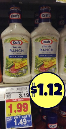Kraft Ranch Salad Dressing - Just $1.12 At Kroger