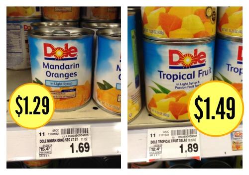 dole canned fruit kroger