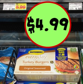 graphic about Butterball Coupons Turkey Printable titled Butterball Turkey Burgers - Printable Coupon Sale At Kroger