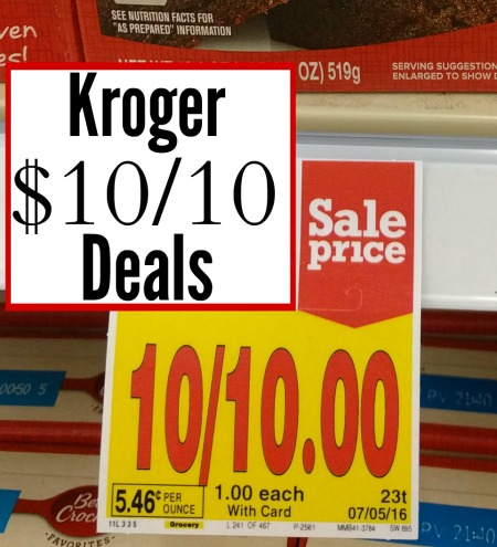 Kroger 10/$10 Deals For The Week Starting 4/18
