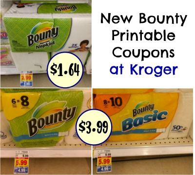 photo regarding Bounty Coupons Printable identified as Contemporary Bounty Napkins Paper Towels Coupon codes For The Kroger