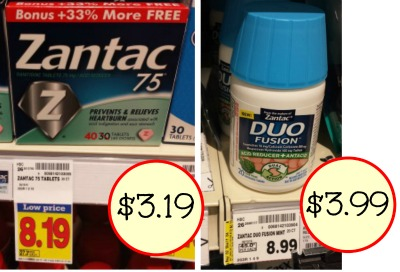 photograph relating to Zantac Printable Coupon titled zantac duo fusion I Middle Kroger