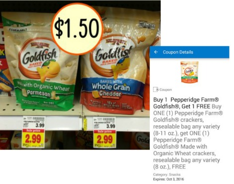 photograph about Goldfish Printable Coupons known as Goldfish Crackers coupon I Center Kroger