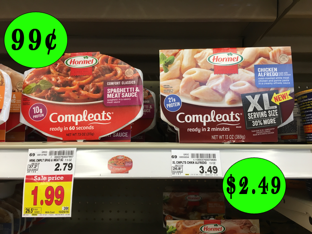 Hormel Compleats Microwave Meals As Low 99 After
