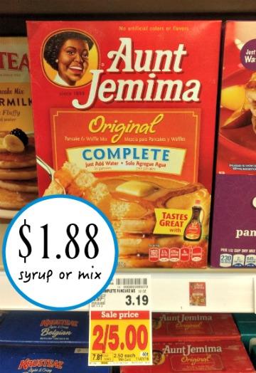 Aunt jemima coupons