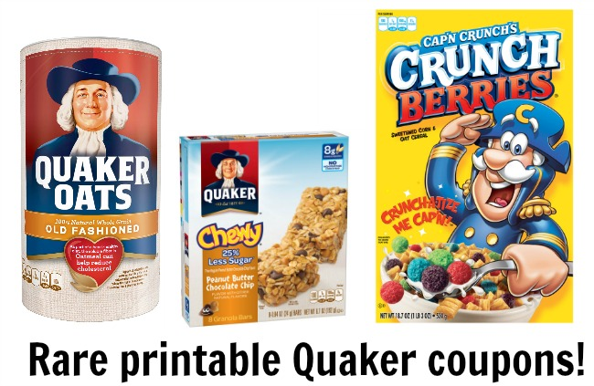Quaker oats cereal coupons