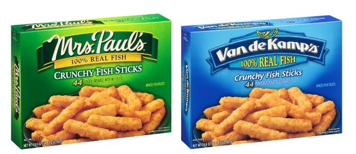 Save on mrs paul 39 s or van de kamp 39 s seafood with the for Van de kamp s fish sticks