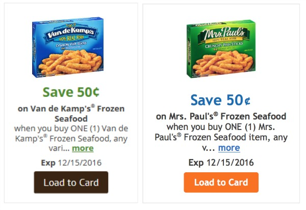 Mrs. paul's frozen fish coupons