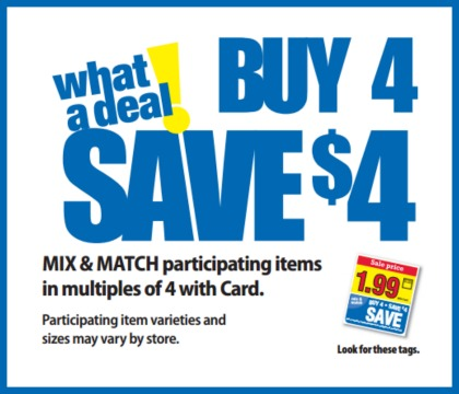 "Kroger ""What A Deal"" Buy 4, Save $4 Mega Sale Full Inclusion List 4/26 - 5/9"