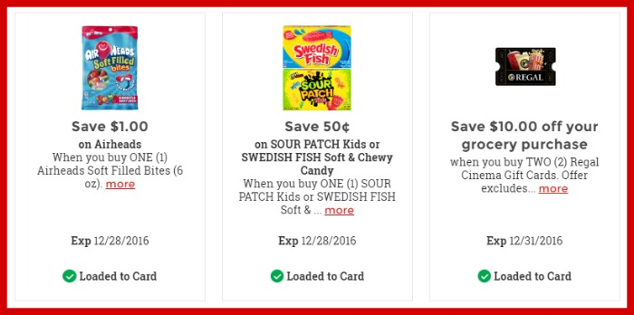 Kroger 25 Merry Days – Load Your Kroger Coupons (Airheads