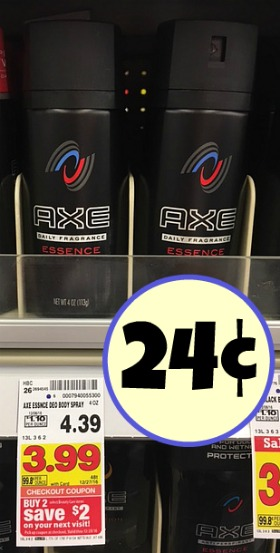 picture regarding Axe Coupons Printable named Refreshing Axe Discount codes \u003d Overall body Sprays Exactly 24¢ Just about every At Kroger!