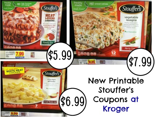 photograph about Stouffer Coupons Printable named Refreshing Stouffers Coupon codes - Spouse and children Measurement Lasagna Precisely $5.99 At