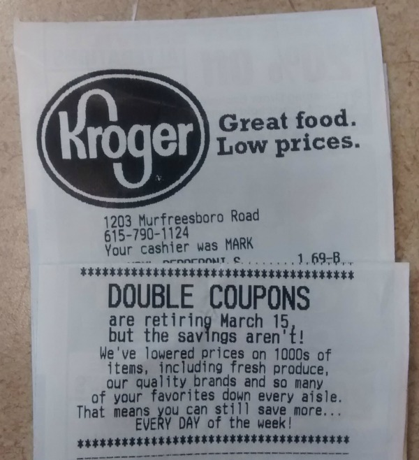 does kroger double ecoupons