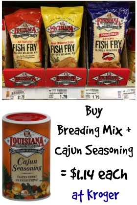 New louisiana fish fry coupons as low as at kroger for Fish sauce kroger