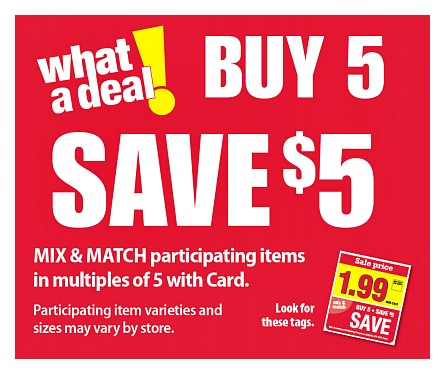 Kroger What A Deal Buy 5 Save 5 Mega Sale Full Inclusion List Valid 3 20 4 2