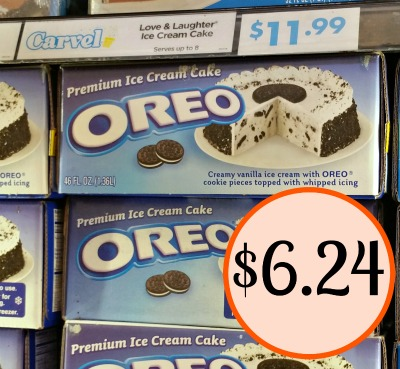 Carvel Oreo Ice Cream Cake Over Half Off At Kroger