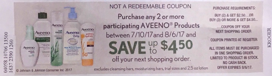 New Aveeno Catalina - Cleansers As Low As $1.79 At Kroger