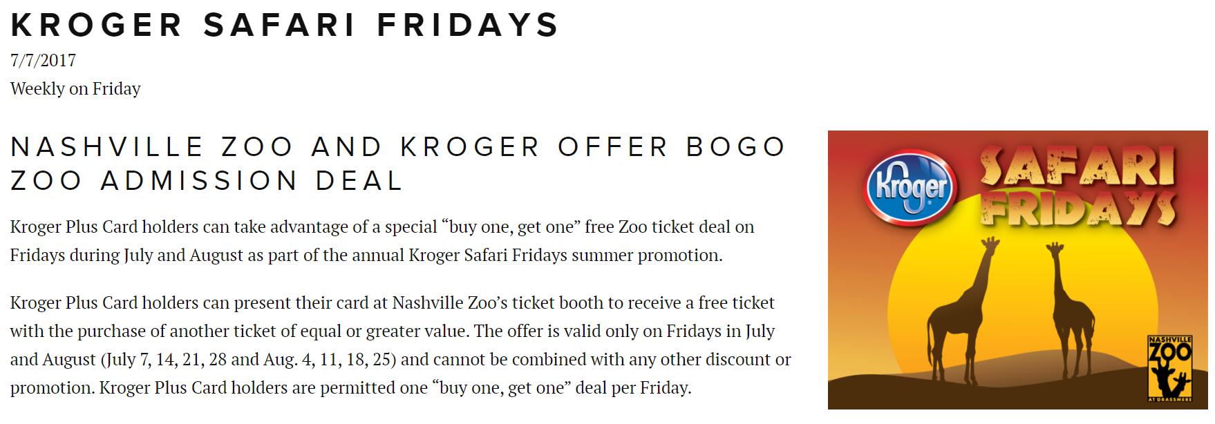 Nashville zoo coupons discounts