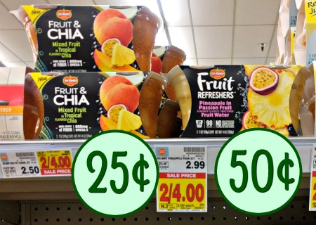 image relating to Del Monte Printable Coupons identify Del Monte Fruit Cup Promotions - Fruit Chia Particularly 25¢ At Kroger!