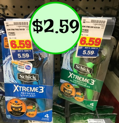 Coupons schick xtreme 3