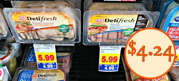 Oscar Mayer Deli Fresh Lunch Meat - $4