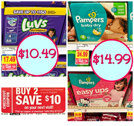 graphic relating to Luvs Printable Coupons named Clean Pampers Luvs Catalina + Fresh Discount codes + Hard cash Back again \u003d Large