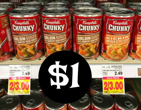 photograph regarding Campbell Soup Printable Coupon named Distinctive Soup Coupon codes - Campbells Chunky Soup As Very low As $1