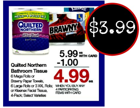 graphic regarding Brawny Printable Coupons identified as Brawny Paper Towels - Accurately $3.99 In just The Kroger Mega Sale
