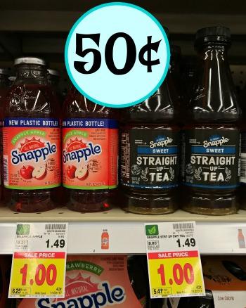 Snapple Bottles - Just 50¢ At Kroger!