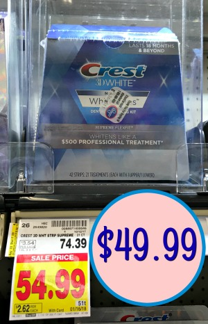 photograph about Crest White Strips Coupon Printable named Contemporary Crest 3D Whitestrips Coupon - Help you save Nearly $25 At Kroger