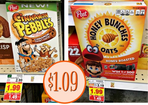 picture regarding Post Cereal Coupons Printable named report cereal I Center Kroger