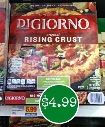 photograph about Digiorno Coupons Printable titled Clean DiGiorno Coupon - Pizza Merely $4.99 At Kroger