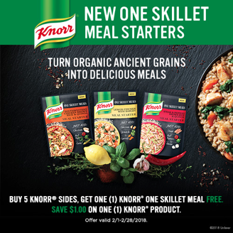 Save On New Knorr One Skillet Meal Starters Serve Up Great