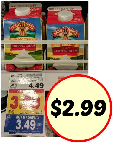 Great Deals On Land O Lakes Half & Half And Heavy Whipping ... Kroger Whipping Cream