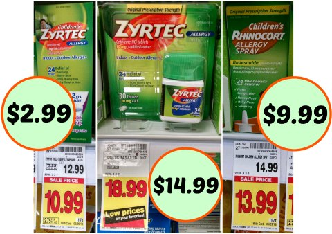 picture relating to Zyrtec Printable Coupon identified as zyrtec coupon I Center Kroger