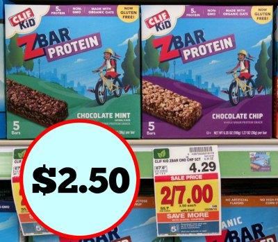 Clif Kid Z Bars Just $2 50 At Kroger (50¢ Per Bar)