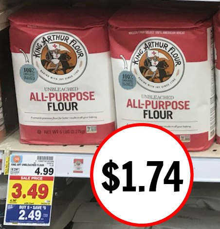 image about King Arthur Flour Printable Coupon named King Arthur Flour Simply $1.74 At Kroger - Large Price cut!