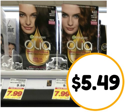 image relating to Printable Hair Color Coupons identify Refreshing Garnier Olia Hair Shade Coupon - Only $5.49 At Kroger