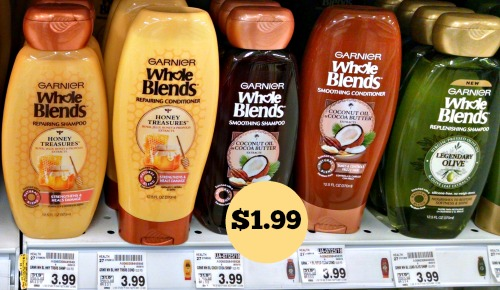 photo relating to Garnier Whole Blends Printable Coupon known as Fresh Garnier Full Blends Coupon - Shampoo or Conditioner