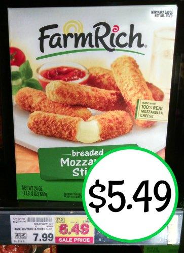 Farm Rich Mozzarella Sticks As Low As 5 49 At Kroger