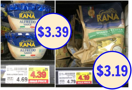 New Giovanni Rana Refrigerated Pasta & Sauce Coupons - As
