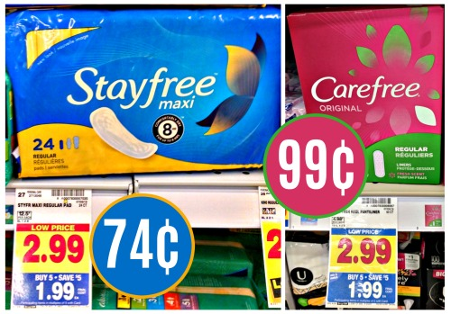 New Stayfree & Carefree Coupons - Products As Low As 74