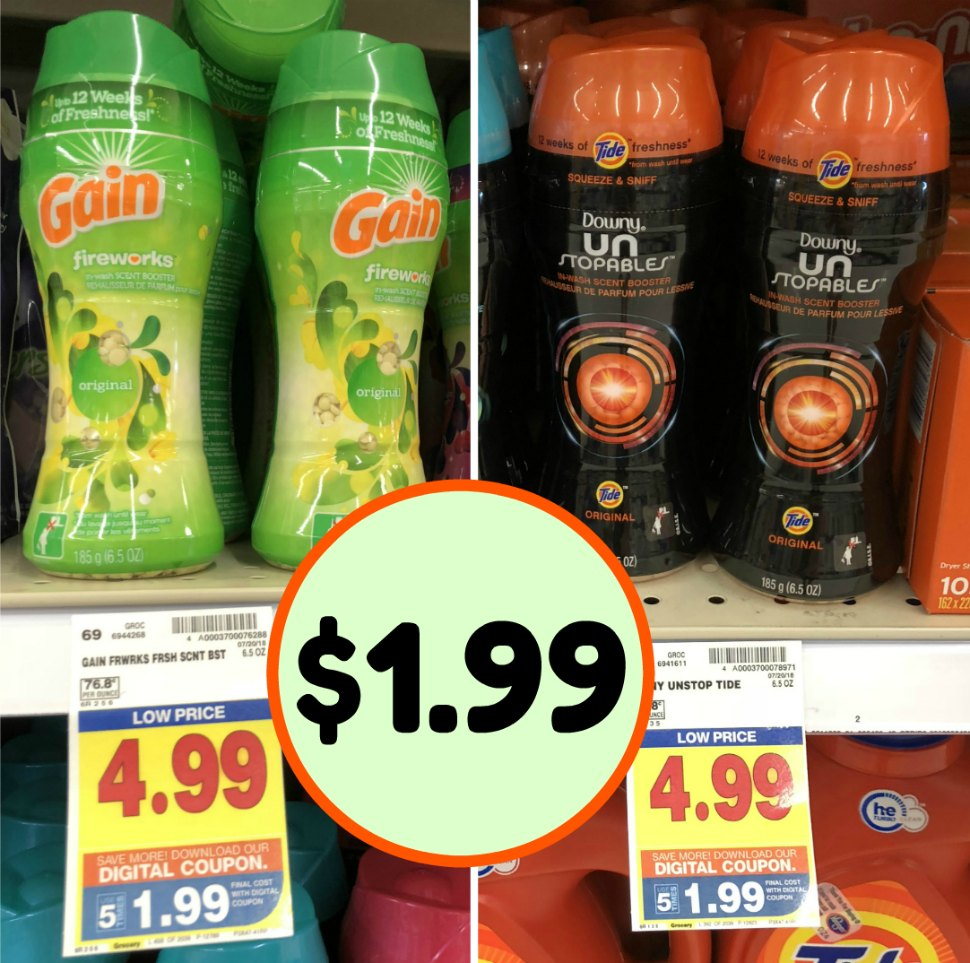image relating to Downy Printable Coupons known as Downy Unstopables or Earnings Fireworks Simply $1.99 At Kroger