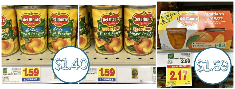 picture about Del Monte Printable Coupons named Great Offers Upon Del Monte Fruit At Kroger