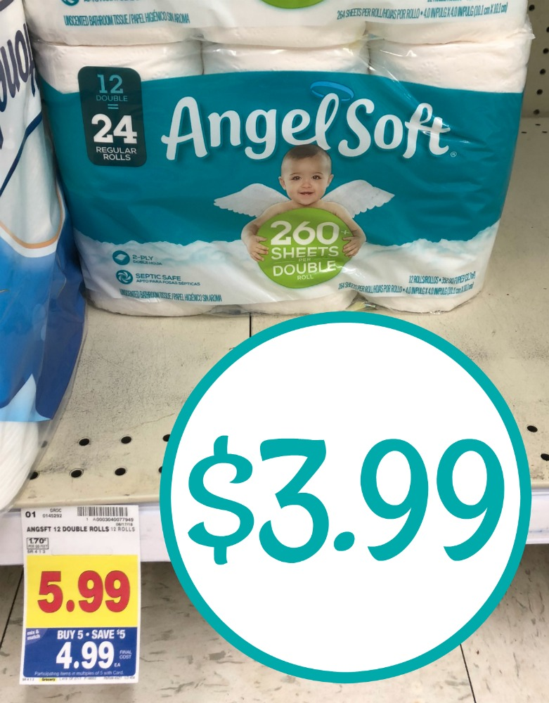 photo relating to Angel Soft Printable Coupon titled Angel Gentle Bathroom Paper - 12 Double Rolls Merely $3.99 At Kroger