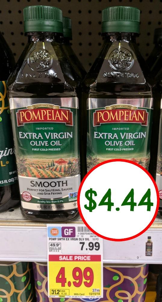 Pompeian Extra Virgin Olive Oil Only $4 44 At Kroger