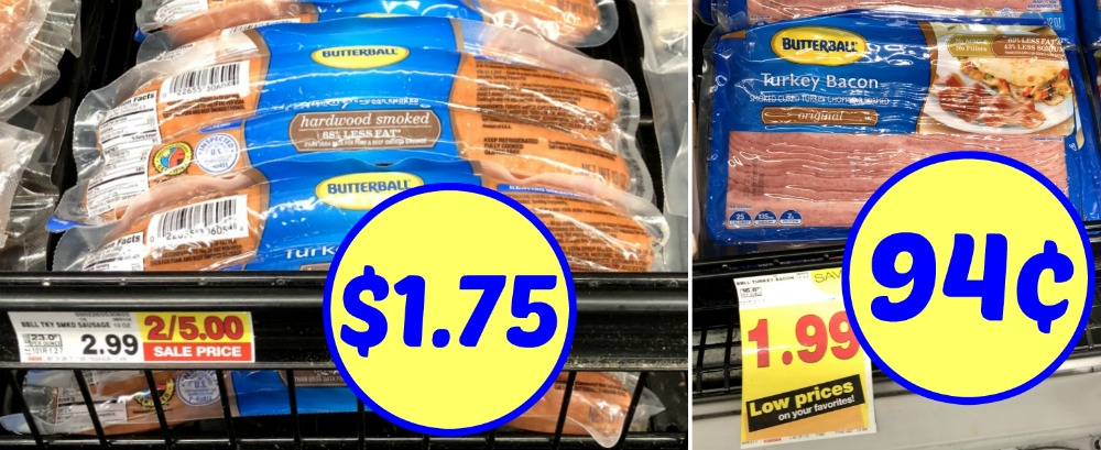 graphic relating to Butterball Coupons Turkey Printable referred to as Butterball Turkey Bacon Basically 94¢ At Kroger ($1.75 Smoked