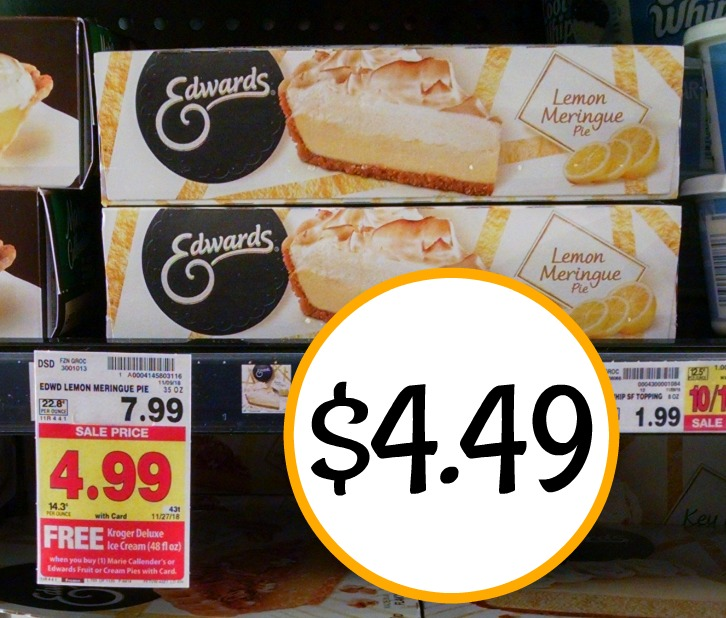 picture regarding Edwards Pies Printable Coupons known as Edwards Pies As Reduced As $4.49 At Kroger + Totally free Ice Product And