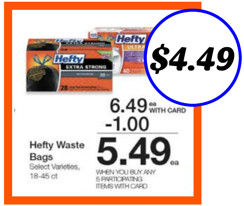 photograph about Hefty Printable Coupons referred to as Heavy Trash Baggage Exactly $4.49 Throughout The Kroger Mega Sale