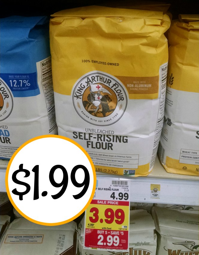 picture about King Arthur Flour Printable Coupon referred to as King Arthur Flour Accurately $1.99 At Kroger - Greater Than 50 percent Off!